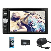 Free camera In-Dash Double Din Car DVD Player AM/FM Car stereo Radio 6.2″ Touchscreen GPS Navigation bluetooth USB SD Aux input