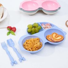 3Pcs Kids Tableware Microwave Set Baby Infant Cute Car Shape Feeding Plate Fruit Snack Dishes Kids Children Tableware Set(China)