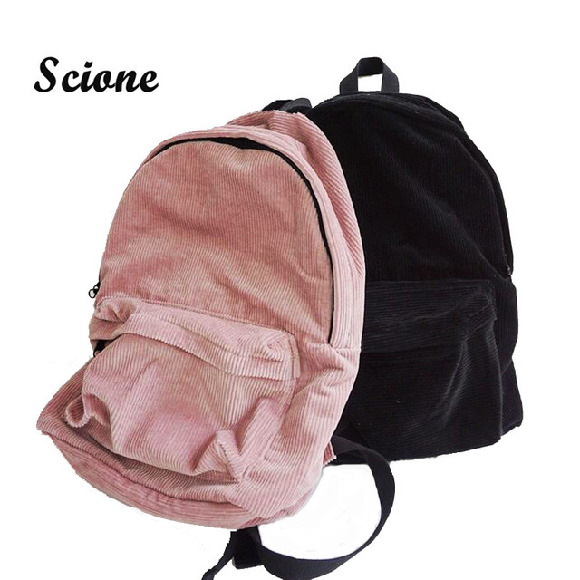 Korean Harajuku Schoolbag Casual Campus Backpacks Teenager Girls Travel Bagpack  Women Corduroy Bagpacks School Backpack JXY618