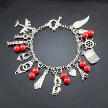 b8ed9751ac12 MQCHUN corazón Cruz esposas paz encantador ojo regalo de San Valentín  encanto pulseras para hombres mujeres joyería fresca caden.