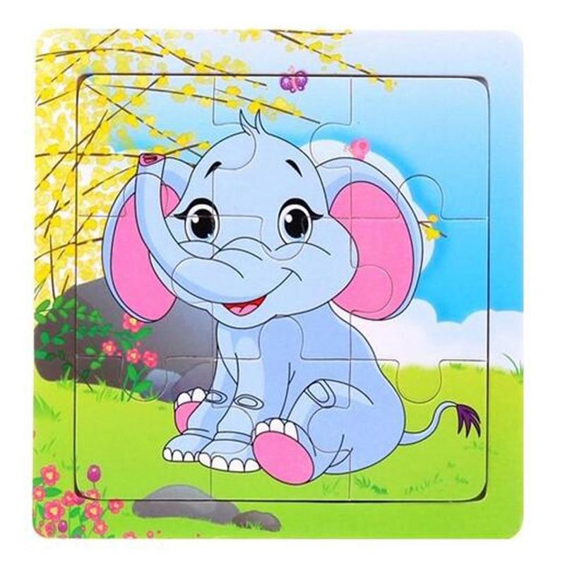Pack állat baba puzzle fa kirakós gyerekek oktatási játékok