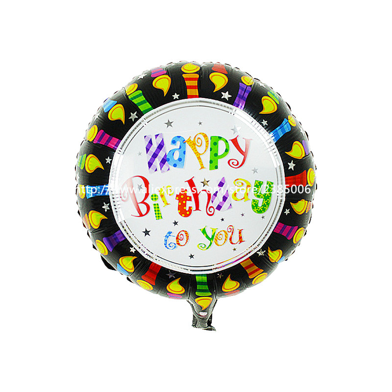 50pcs/lot  happy birthday balloon aluminium foil balloons helium ballon mylar ba