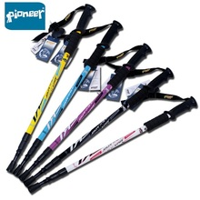 1 Pcs Pioneer Anti Shock Nordic Walking Stick Telescopic Adjustable Trekking Hiking Pole Ultralight Outdoor Cane Wholesale