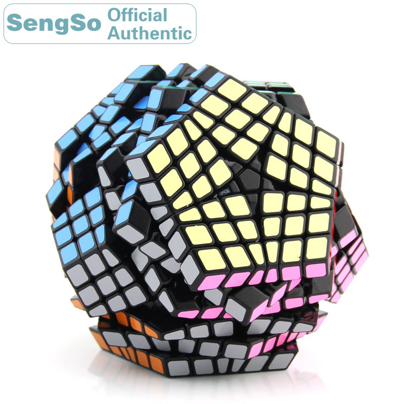 ShengShou Megaminxeds 6x6x6 Cube magique SengSo 6x6 Cubo Magico professionnel néo vitesse Cube Puzzle Antistress Fidget jouets pour enfants
