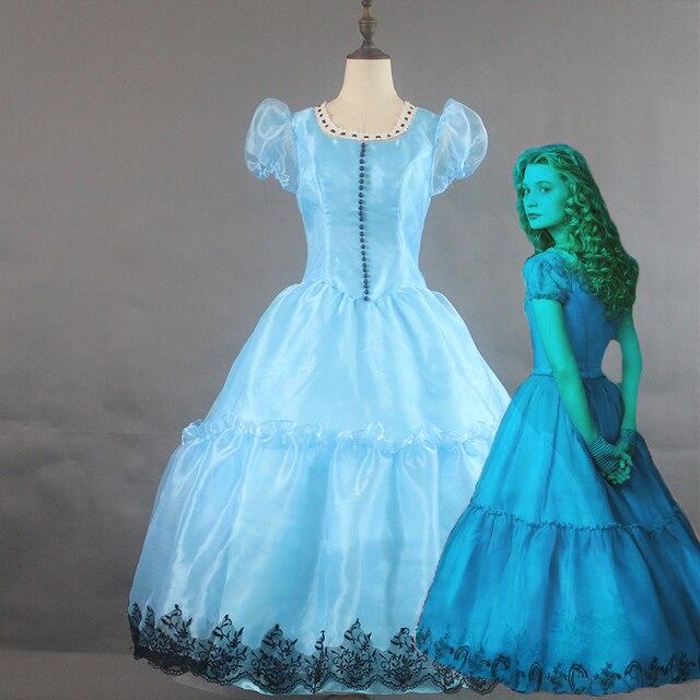 Alice In Wonderland Alice Princess Wedding Dress Cosplay Costume