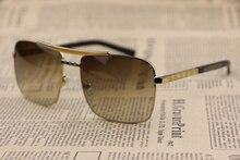 Metal frame Unisex Sunglasses 0259 Square frame Gradient Lens Gentleman style Fashion wild