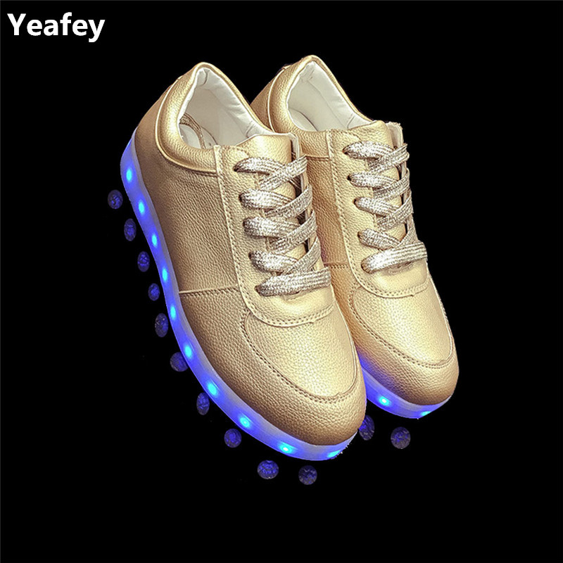 Yeafey Lumineux Krasovki Lumineux Sneakers Led Femme Hommes
