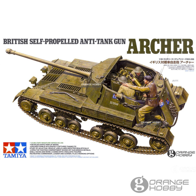 OHS Tamiya 35356 1/35 British Self-Propelled Anti-Tank Gun Archer Military Assembly AFV Model Building Kit bryan perrett british military history for dummies