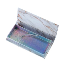 Empty False Eyelash Care Storage Case Box Container Holder Compartment Tool Gift (Marble)