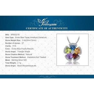 Image 5 - Amethyst Citrin Granat Peridot Topas Anhänger Halskette 925 Sterling Silber Edelsteine Erklärung Halskette Frauen Ohne Kette