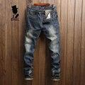 Fashion Dark Jeans Men Ripped Trousers Male High Quality Slim Fit Denim Jean Pants Original Dsel Brand Mens Jeans With Logo U625