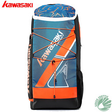 1323b67e06d8 100% Original Kawasaki Badminton Bag Racket Backpack Sports For 3 Racquets (China)