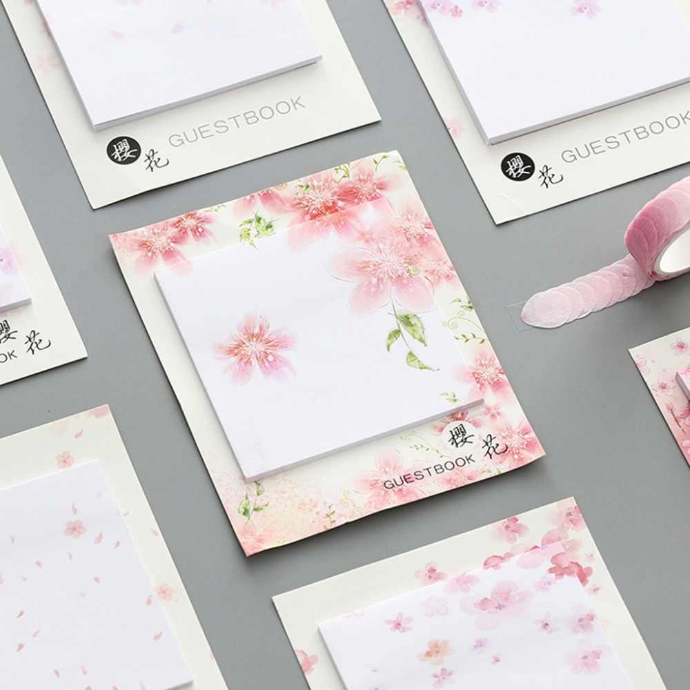 Verse Cherry Sakura Natuurlijke Memo Pad Sticky Notes Winkelen Check Lijst School Supply Label