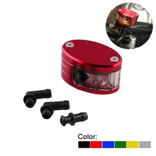 Motorcycle Front Brake Oil Cup & Bracket Universal Electric Car CNC Aluminum Fluid Reservoir For YAMAHA HONDA
