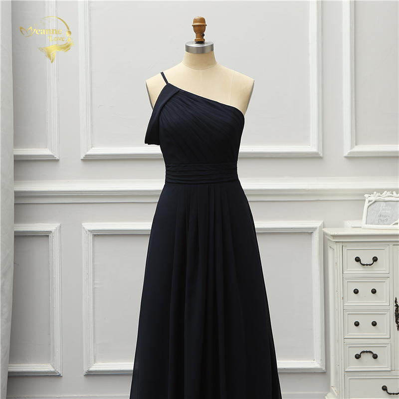 Jeanne Love Formal Luxury Evening Dress New Arrival Black One Shoulder Party Robe De Soiree Vestido De Festa OL5221 Prom Gowns 6