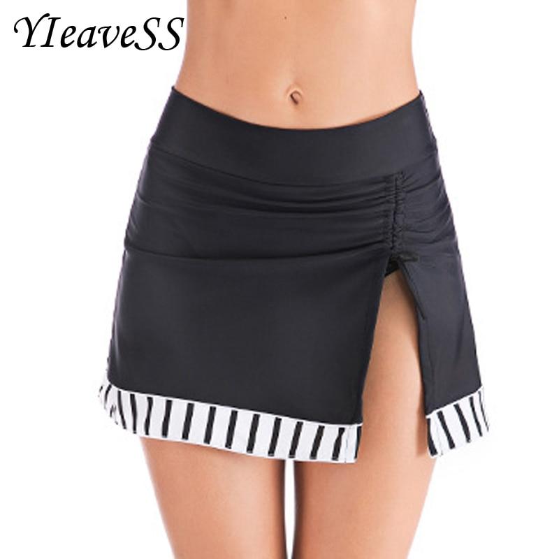 Plus Size Swimwear Lace Dress 5XL Bottom Two Piece Separate Swimming Bikinis Black Swimsuit Pants Woman Beach Sports Short Pants
