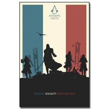 Шелковый Плакат Гобелен игра Кредо Убийцы Assassins Creed в а ссортименте