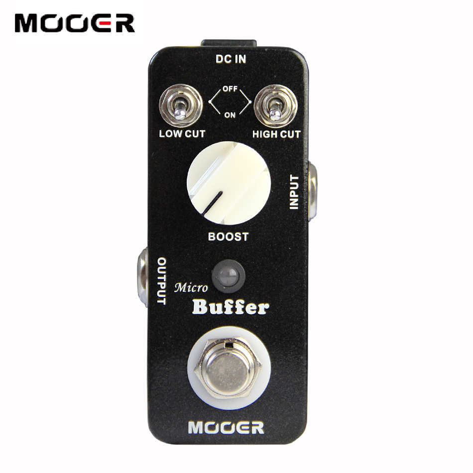 NEW Effect Guitar Pedal /MOOER Micro Buffer pedal,True bypass thus obtaining the original musical sound new effect pedal mooer hustle drive distortion pedal true bypass excellent sound