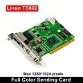 LINSN TS802D отправка карты, полноцветный светодиодный видео дисплей LINSN TS802 отправка карты синхронный светодиодный видеокарта SD802