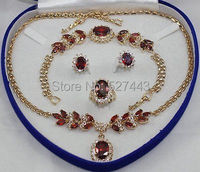 Wholesale >Bridal Fashion Jewellery Women's Set Zirconia Necklace Earring Ring Bracelet