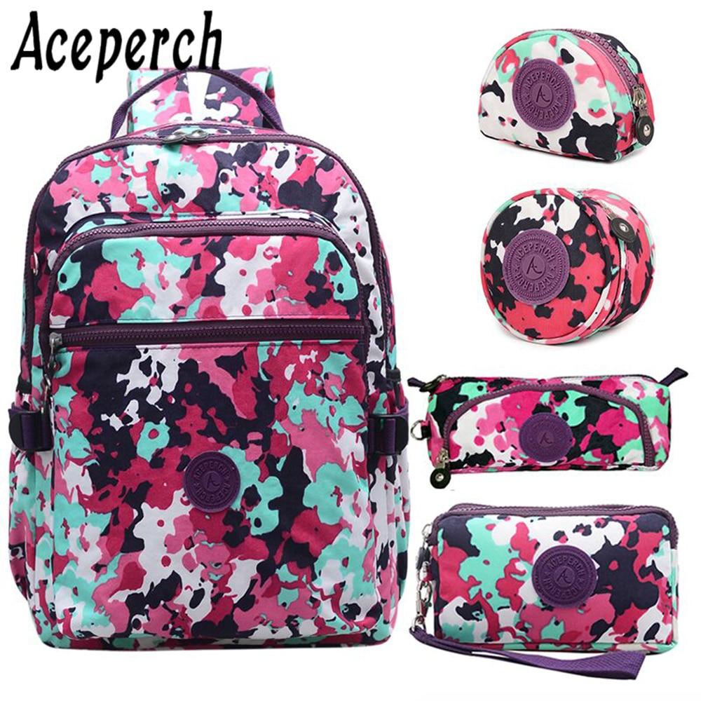 ACEPERCH Girl Backpacks Women School Backpack For Teenage Girls Mochila Feminina Boys Laptop Mochila Kids Bags Sac A Dos