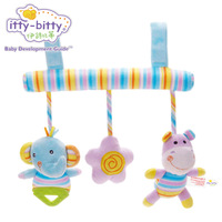 Itty Bitty Activity Spiral Baby Stroller Car Seat Ornament Hangings Crib Toy Infant Toys Play Mat Accessory Plush Toy for Travel
