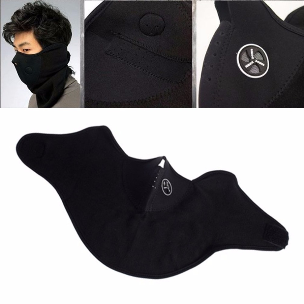 Wind Stopper Face Mask Thermal Fleece Balaclava Hat Hood 6 In 1 Ski Neck Warmer Winter Fleece Black Mask