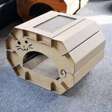 Японская Складная гофрированная бумага для кошачьего туалета, скретч-доска для кошачьих когтей, Популярная игрушка
