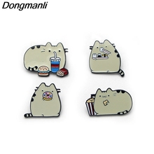 B2133 Dongmanli jewelry Cute Cat Metal Enamel pin badge brooches clothing Jewelry Accessories