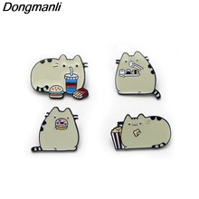 B2133 Dongmanli jewelry Cute Cat Metal Enamel pin badge brooches clothing Jewelry Accessories(China)