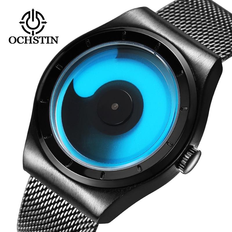 Nueva marca de moda de lujo OCHSTIN relojes hombres reloj de cuarzo correa de malla de acero inoxidable Reloj Militar reloj relogio masculino