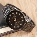 2017 Novo Chegada KEVIN Relógios de Quartzo Relógios de Pulso dos homens de Aço Inoxidável Preto Relógio Círculos Buraco das Mulheres de Vestido Relógios Relojes