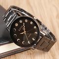 2017 Nueva Llegada de KEVIN Relojes hombres Reloj de Cuarzo Relojes de Pulsera de Acero Inoxidable Negro Círculos Del Agujero de Las Mujeres Relojes de Vestir Relojes