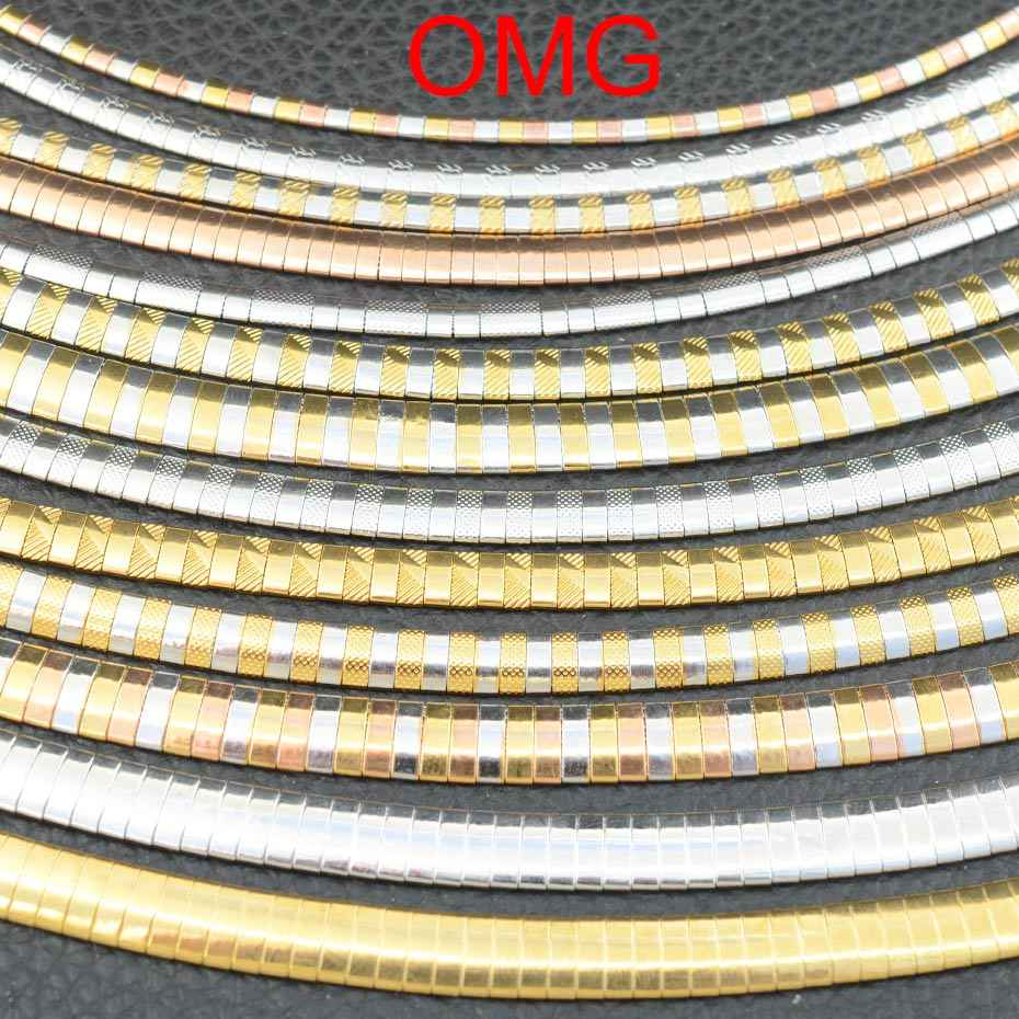 Fashion Stainless Steel Jewelry 3/4/6/8mm OMG Colorful Choker Necklace Collar Chunky For Women Trendy Snake Chain Gift For Girl