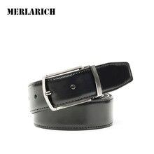 MERLARICH Brand Genuine Leather Belt Military Mens Belts Luxury Jeans Male Belt Men Ceinture Dress Designed
