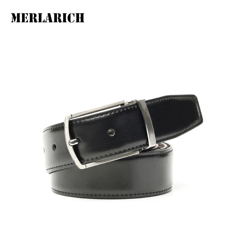 MERLARICH Brand Genuine Leather Belt Military font b Mens b font Belts Luxury font b Jeans