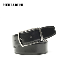 MERLARICH Brand Genuine Leather Belt Military Mens Belts Luxury Jeans Male Belt Men Ceinture Dress Designed Freeshipping