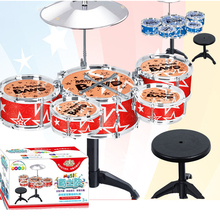 Drum Set Percussion Instrument Musical Toy Puzzle Early Toys for Children Kids