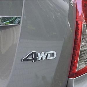 3D 4WD 4x4 Metal Sticker For Lifan x60 Chevrolet Cruze Captiva Lacetti Trax Sail Subaru Forester XV Impreza Legacy Accessories