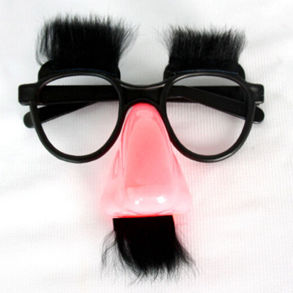 1psc Party Accessory Mustache Fake Nose Eyebrow Clown Funny Costume Props Party Glasses Big Nose Beard Glasses P20 Home & Garden