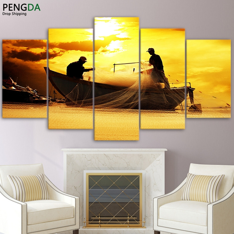Wall Art Pictures Home Decor For Living Room Posters Frame 5 Pieces ...