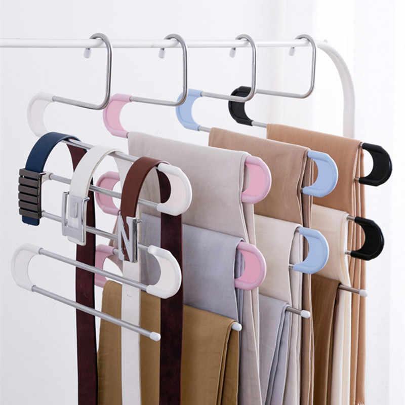 5 слоев s-образной формы многофункциональные вешалки для одежды для путешествий, вешалки для хранения брюк, вешалки для ремней, тканевая стойка, многослойная вешалка для хранения одежды