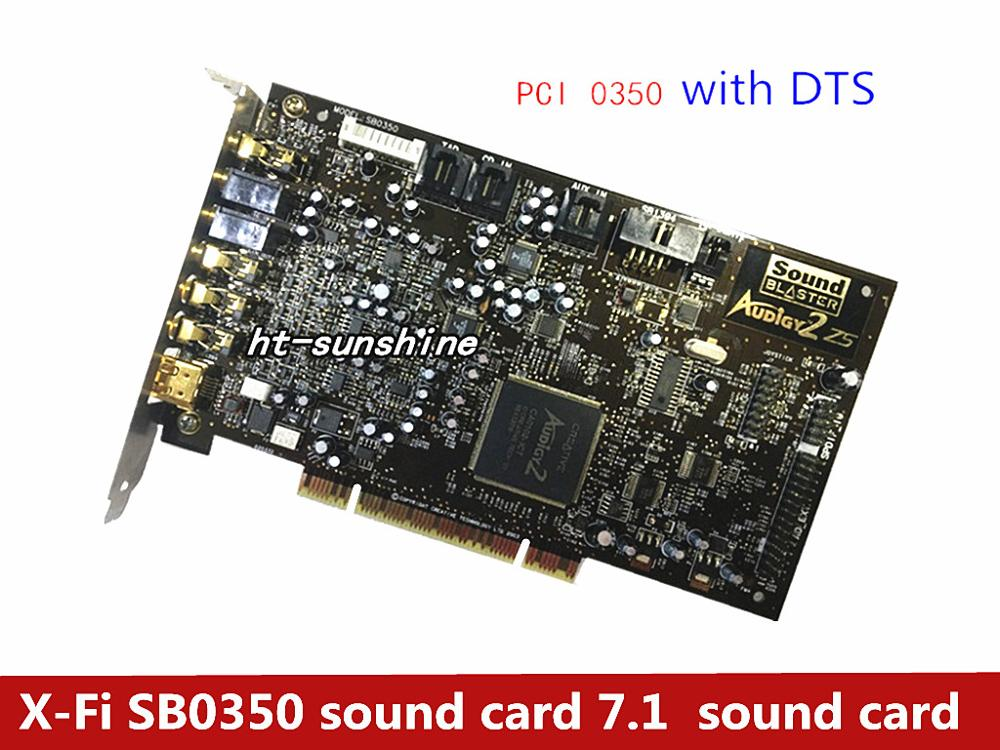 Used X-Fi SB0350 Sound Card 7.1 Music Game Sound Card,100% Tested Good