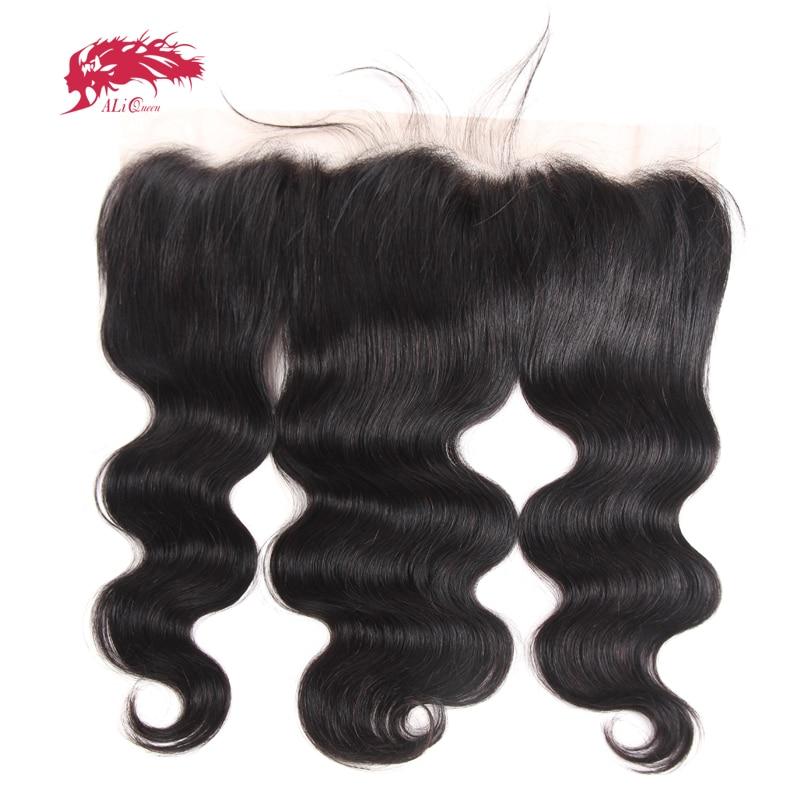 Ali Queen Hair HD Lace Brazilian Body Wave 13x4 Lace Frontal Ear To Ear Pre Plucked