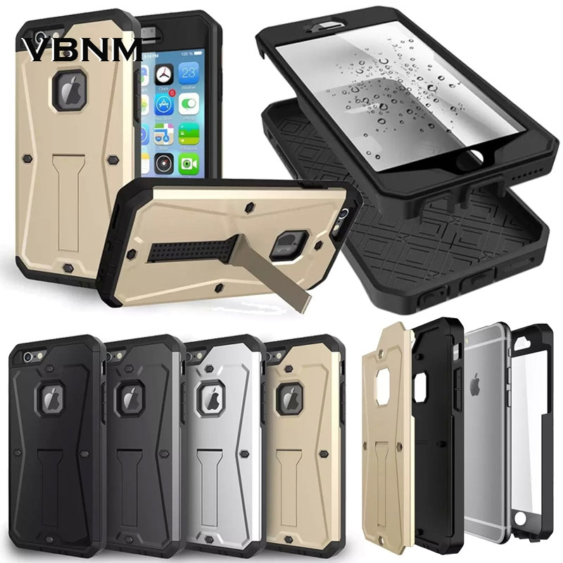 Extreme Future 3in1 Hybride Stand Silicone TPU Antichoc Armure Hard Cover cas pour iPhone 5 5S 6 6 s 4.7 6 plus 7 plus