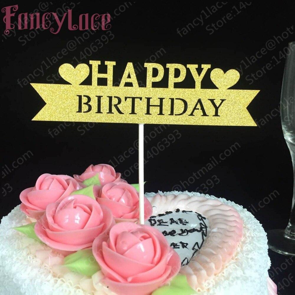 Hot Sale 12pcs Love Happy Birthday Cake Topper Wedding Decoration