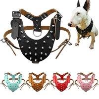 5 цветов кожа шипованных шипами собаки жгут для Pitbull Boxer чёрный; коричневый для M, L собака