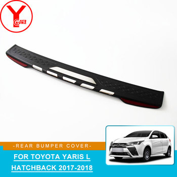 ABS rear bumper protector lip sticker For toyota yaris L hatchback 2017 2018 parts auto accessories For toyota yaris L YCSUNZ