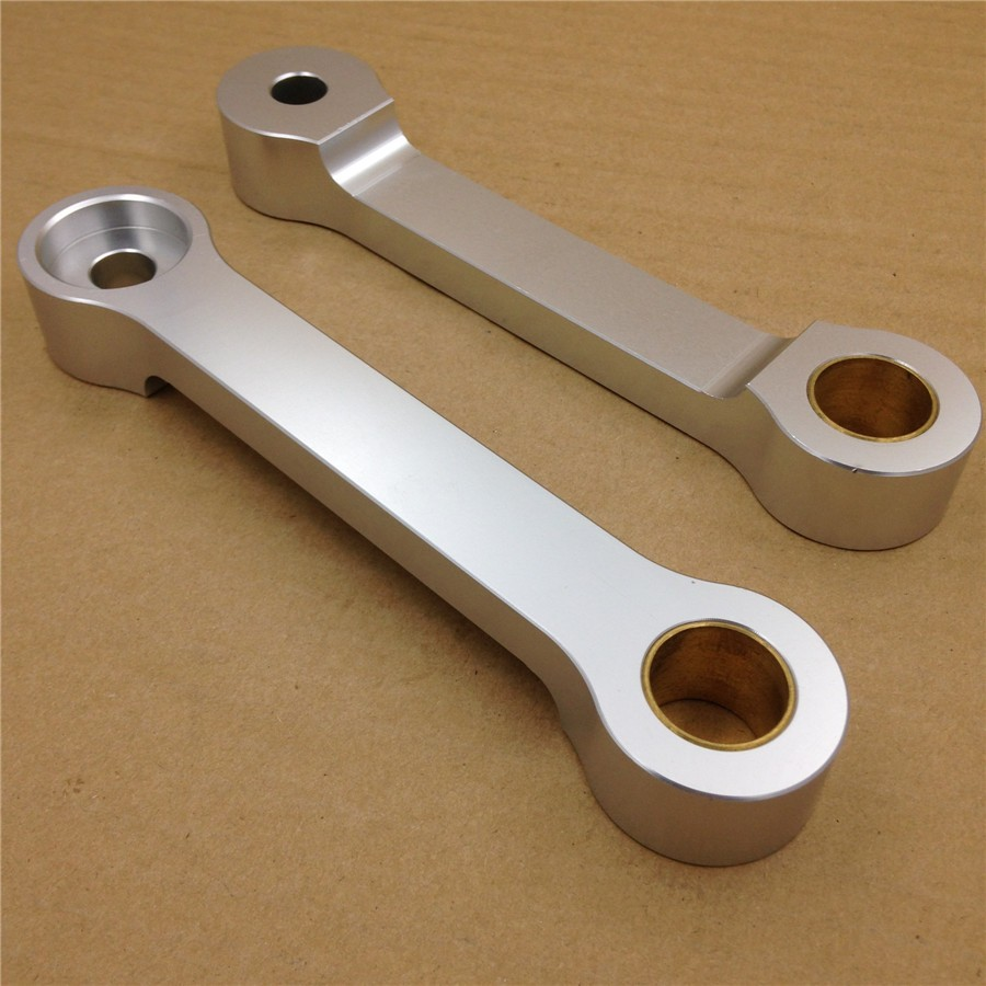 Aftermarket free shipping motorcycle parts Billet Lowering Links For 1986-2007 Kawasa EX250 EX 250 bike Silver aftermarket free shipping motorcycle parts eliminator tidy tail for 2006 2007 2008 fz6 fazer 2007 2008b lack