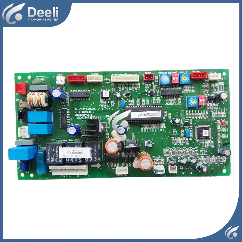 Send DHL 95% new good working for Midea central air conditioner motherboard pc board MDV-D22T2 D(64)1.4-1 3pcs/lot ups ems dhl 95% new good working for air conditioner inner machine motor fan ydk50 8g 3 7 line